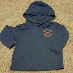 Oshkosh long sleeve hooded shirt 9-12 month